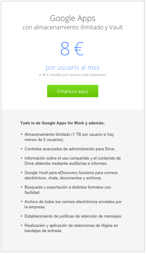 Google apps for work en malaga ilimitado